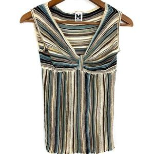 Missoni Striped VNeck Tank